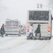 outdoor winter snowing
